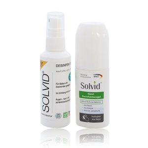 SOLVID BUNDLE TESTANGEBOT -  Desinfektions- Spray & Gel - 75ml/50ml
