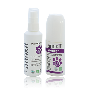 anoxil®  BUNDLE TESTANGEBOT - Desinfektion & Wundgel - 75ml/50ml