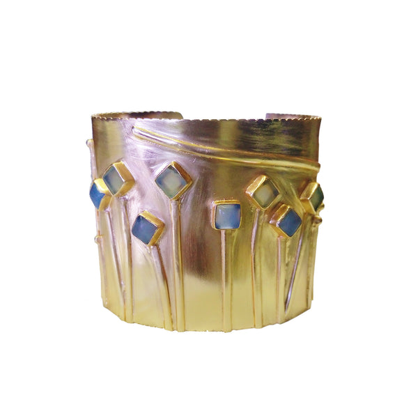 FLOWERS IN BLOOM cuff: Chalcedony