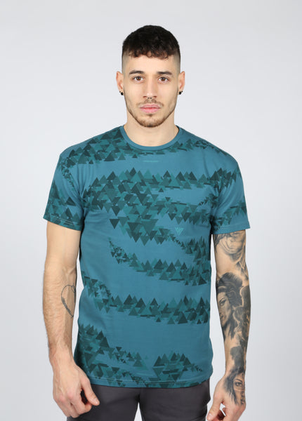 17 London - Teal Camo Rate T-shirt