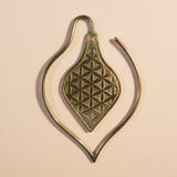 111 Brass Earrings With Geometric Design - Punktured