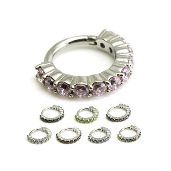 Cluster Jewelled Hinged Ring