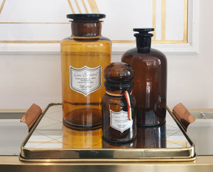 Vintage flasks of Delbove's products
