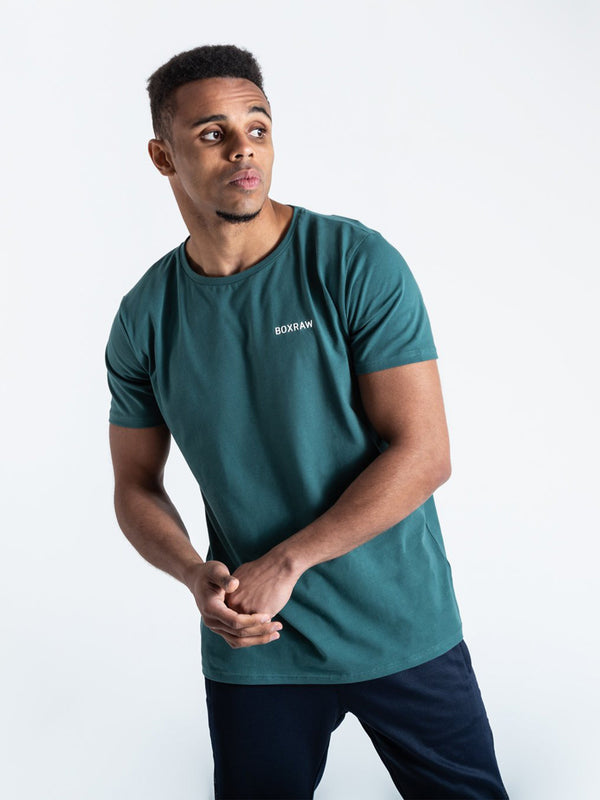 BOXRAW LOGO T-SHIRT GREEN | VAAMSPORT