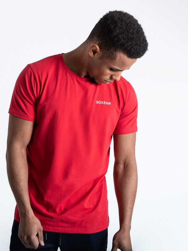 BOXRAW LOGO T-SHIRT RED | VAAMSPORT