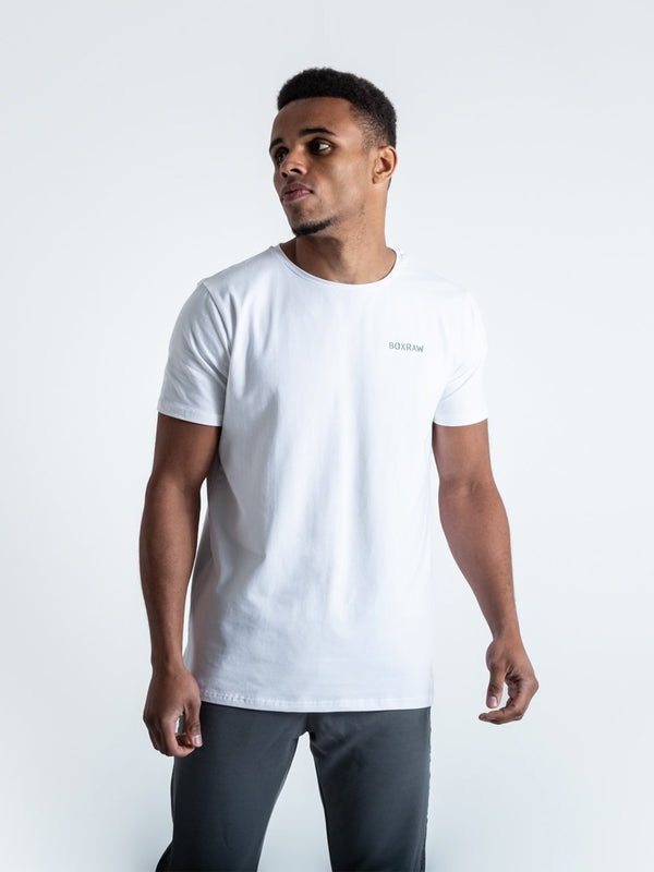 BOXRAW LOGO T-SHIRT WHITE | VAAMSPORT