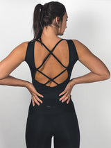 COMFY & STRAPPY SHIRT BLACK | VAAMSPORT