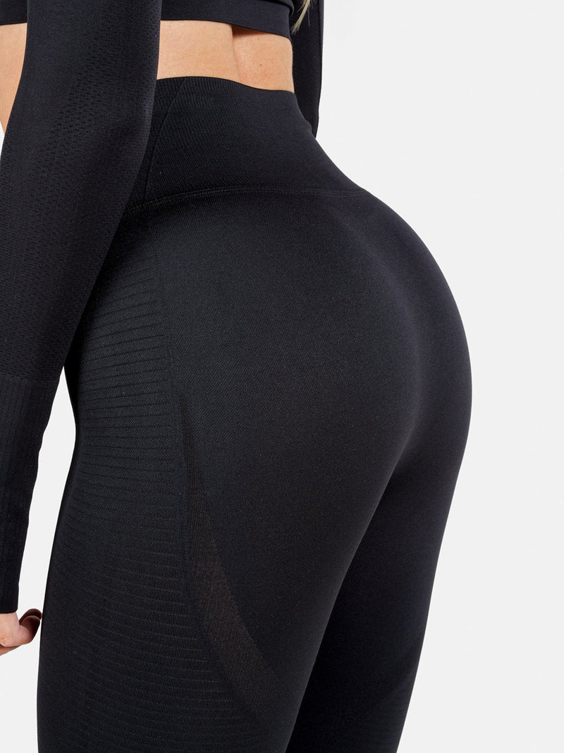 FAMME VORTEX LEGGINGS - BLACK | VAAMSPORT