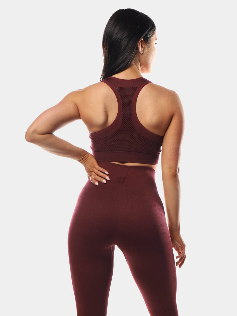 HYPNOTIC SPORTS BRA - MAROON | VAAMSPORT