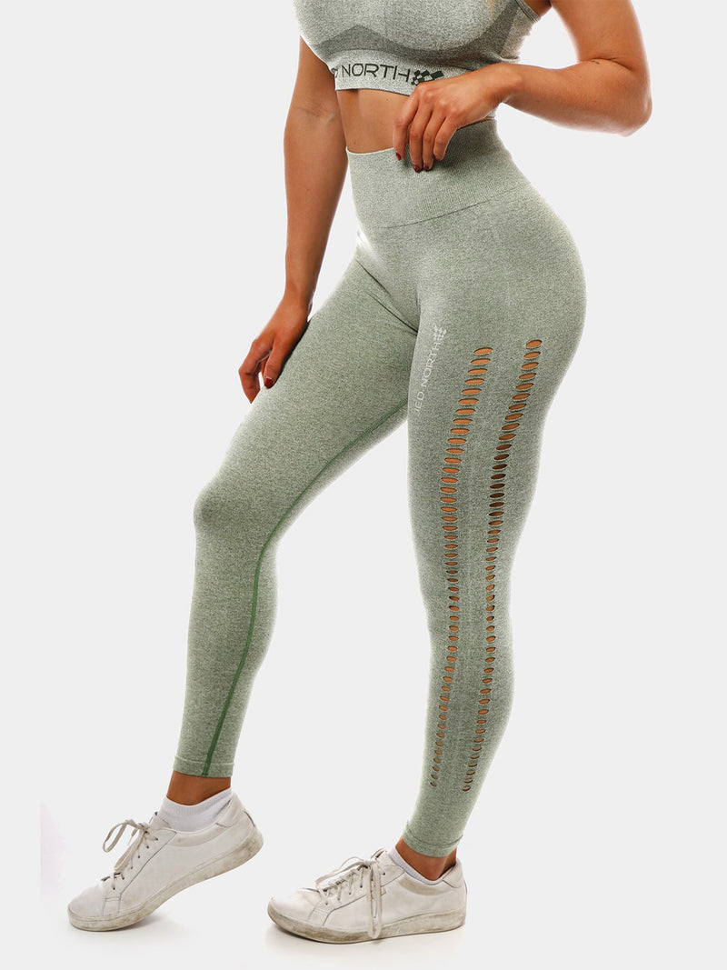 JED NORTH KITA SEAMLESS LEGGINGS - GREEN | VAAMSPORT