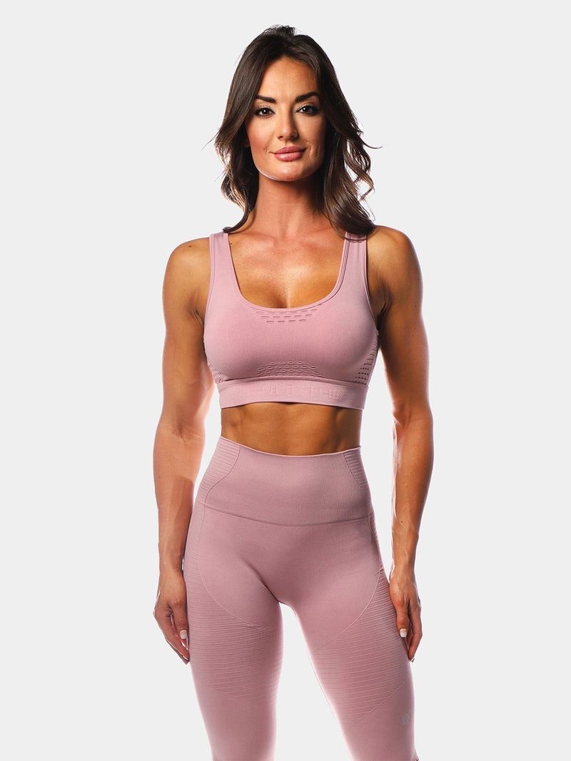 JED NORTH LUXE SPORTS BRA - PINK | VAAMSPORT