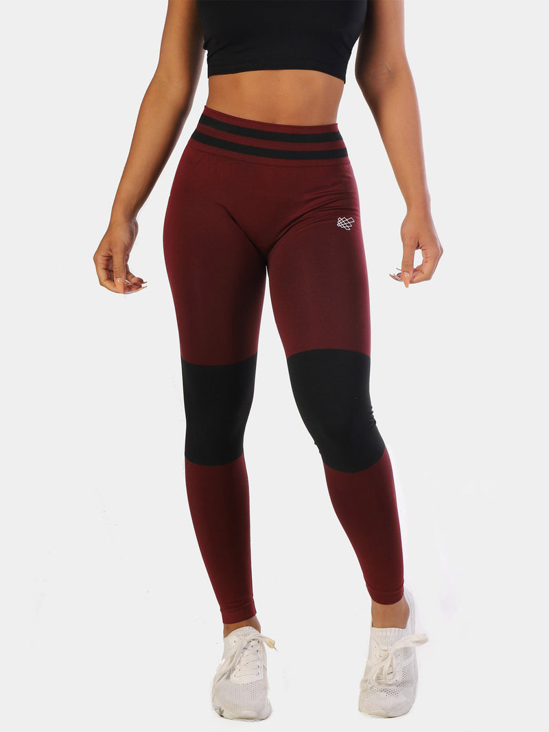 JED NORTH STORM SEAMLESS LEGGINGS - MAROON | VAAMSPORT