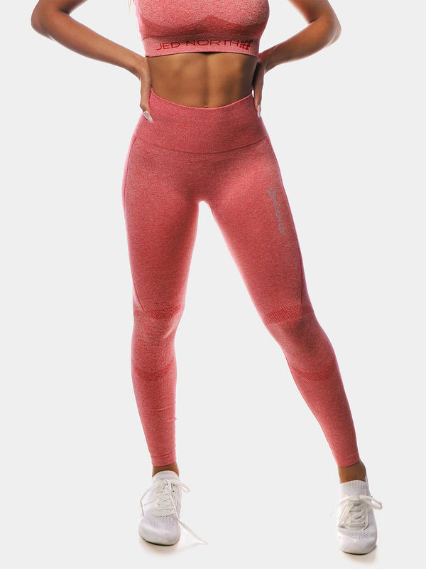JED NORTH SUPPLE SEAMLESS LEGGING - RED | VAAMSPORT