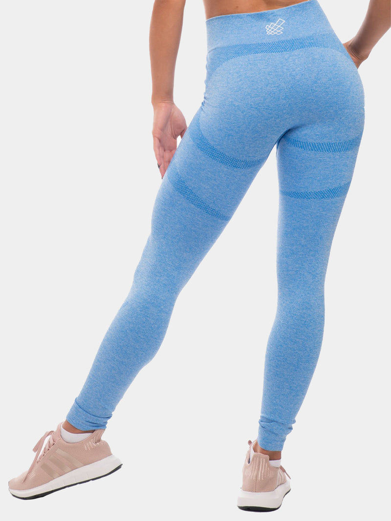 JED NORTH SUPPLE SEAMLESS LEGGINGS - BLUE | VAAMSPORT