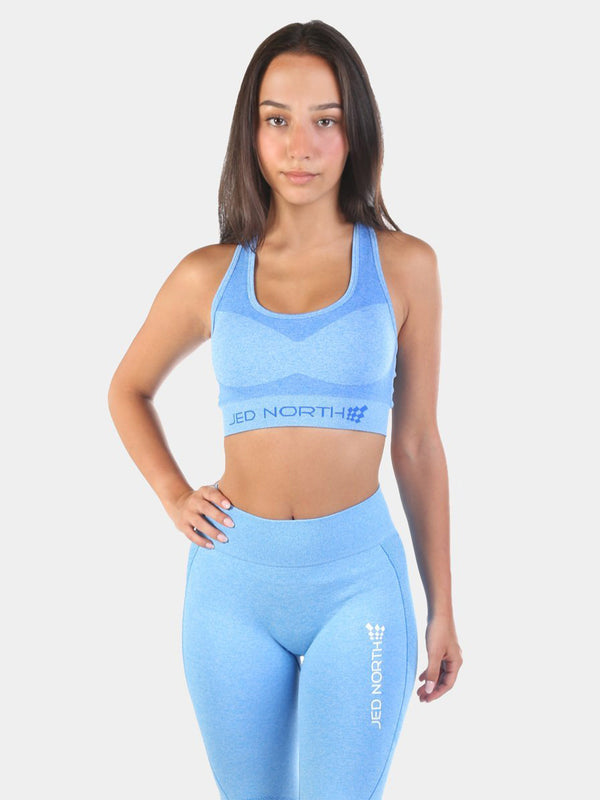 JED NORTH SUPPLE SEAMLESS SPORTS BRA - BLUE | VAAMSPORT