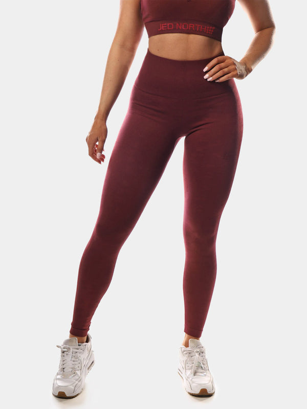 JED NORTH TETRIS LEGGINGS - MAROON | VAAMSPORT