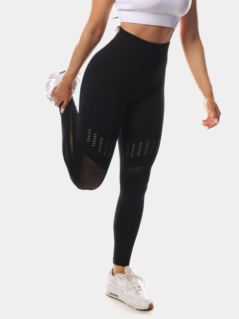 JED NORTH WILLOW LEGGINGS - BLACK | VAAMSPORT