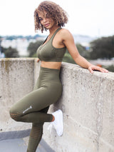 LUXE LEGGINGS - OLIVE GREEN | VaAMSPORT