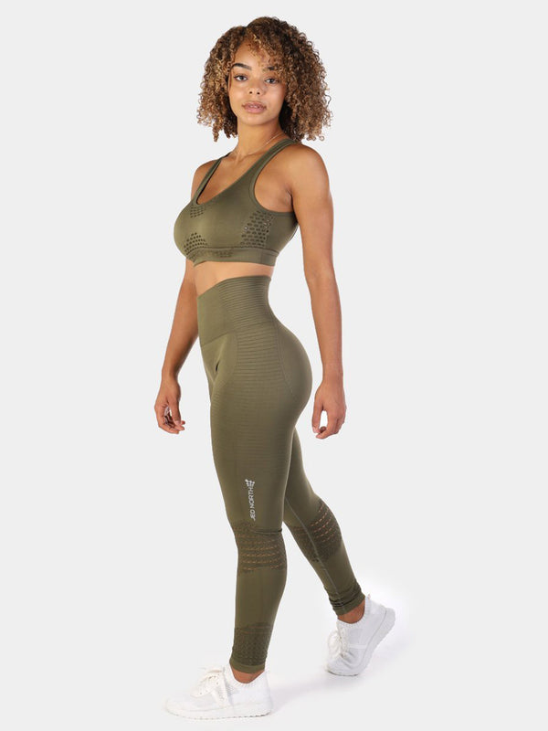LUXE SPORTS BRA - OLIVE GREEN | VAAMSPORT
