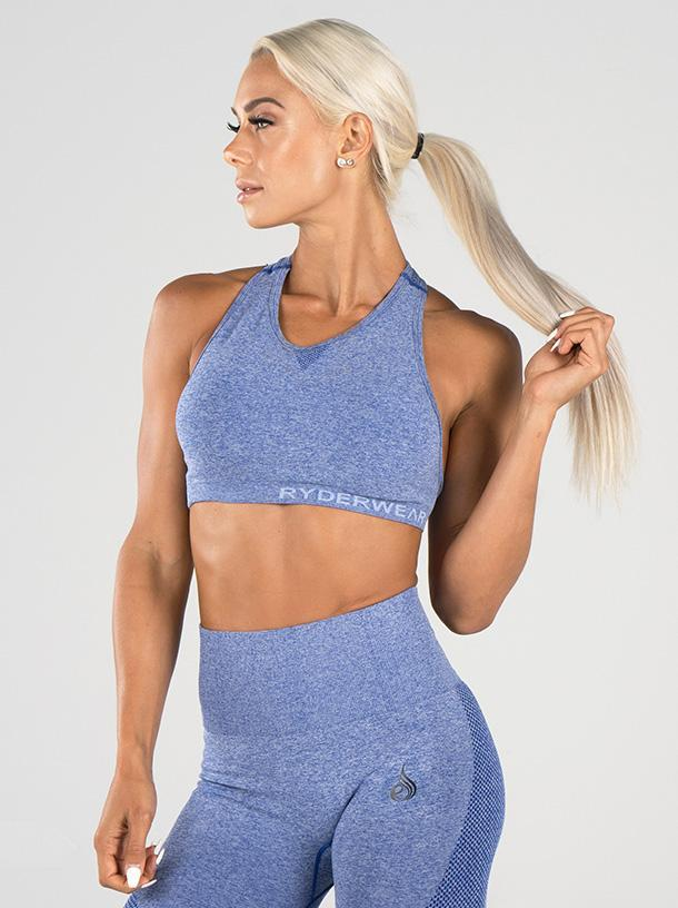SEAMLESS SPORTS BRA - BLUE MARLE | VAAMSPORT