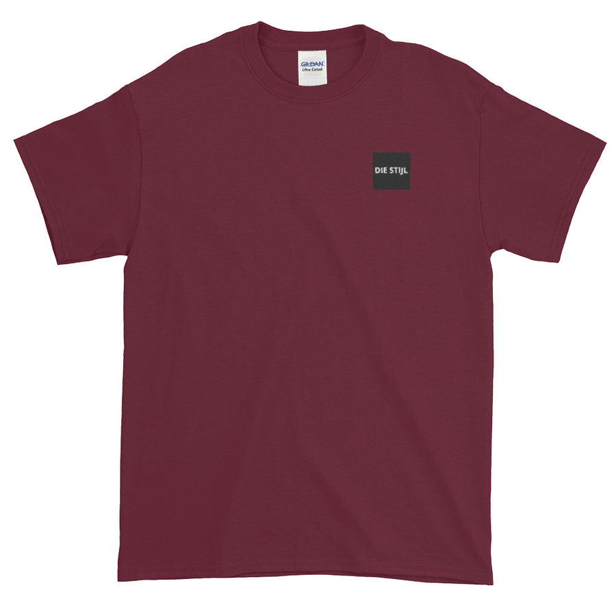 Small Embroidered logo maroon tee