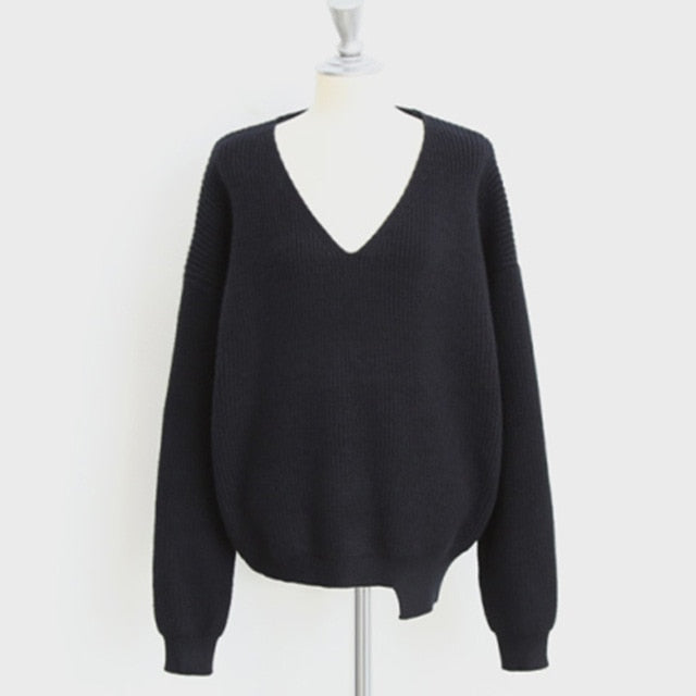 Autumn Knitted V-Neck Sweater (3variants)