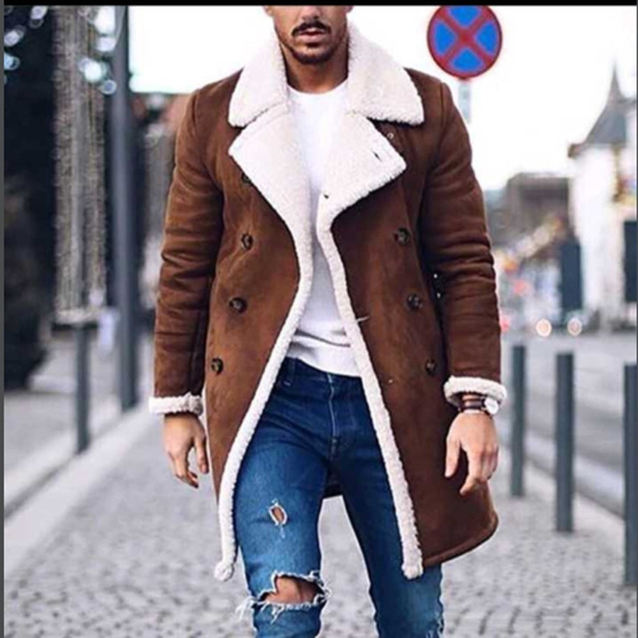 Fur Leather Overcoat