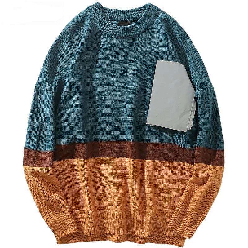 Vintage Color Block Pullover