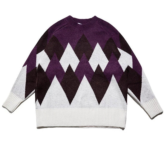 College Style Retro Sweater (2variants)