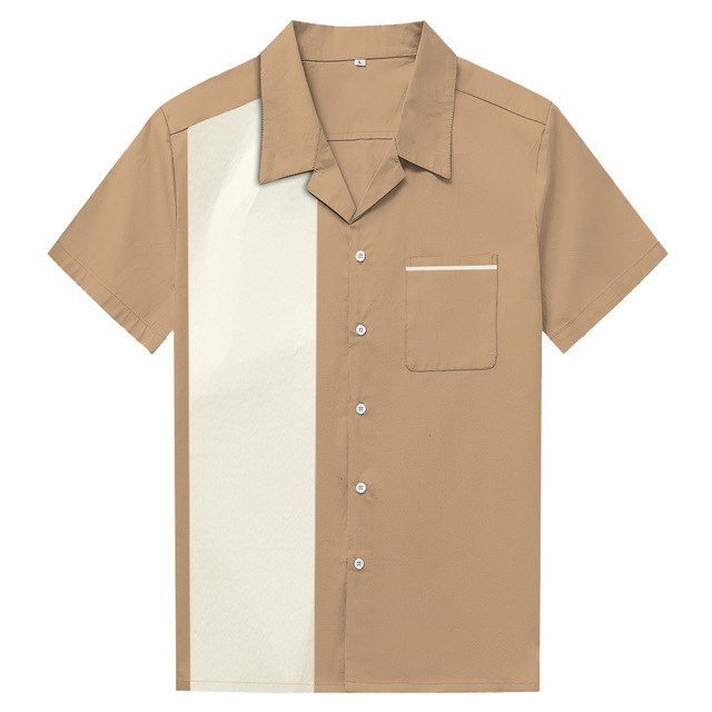 Panel Hit Color Stitching Shirt (3variants)
