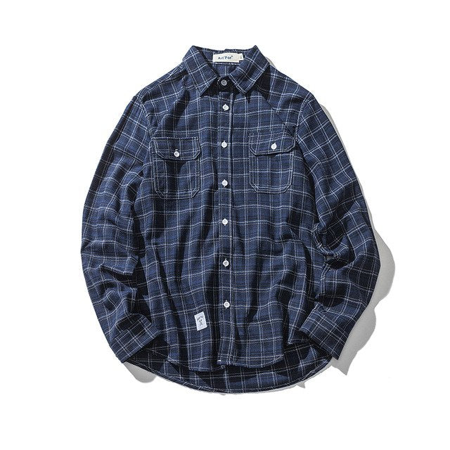 Chemise plaid shirt (4variants)