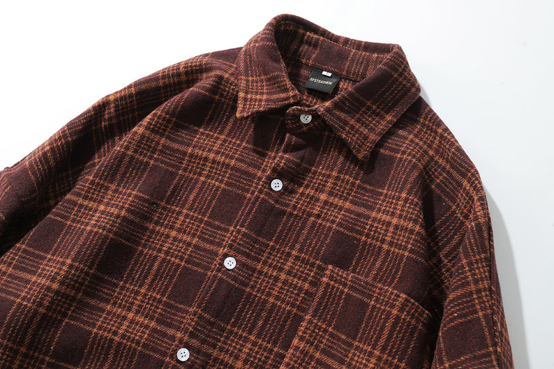 Oversized Flannel Vintage Shirt (3variants)