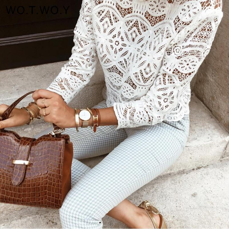 White Lace Boho Blouse