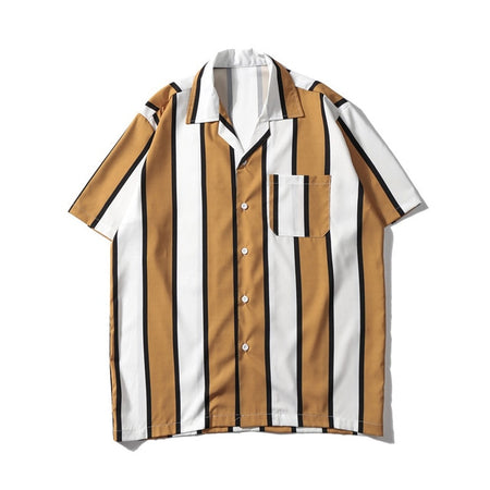 Striped Turn-down Shirts (2variants)