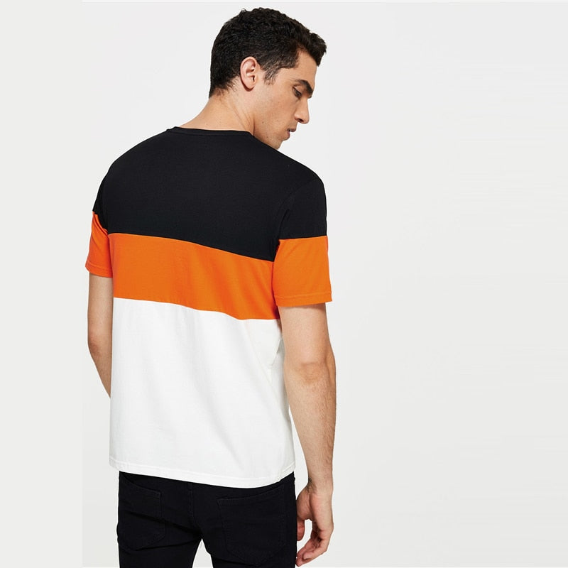Color Block orange Tee