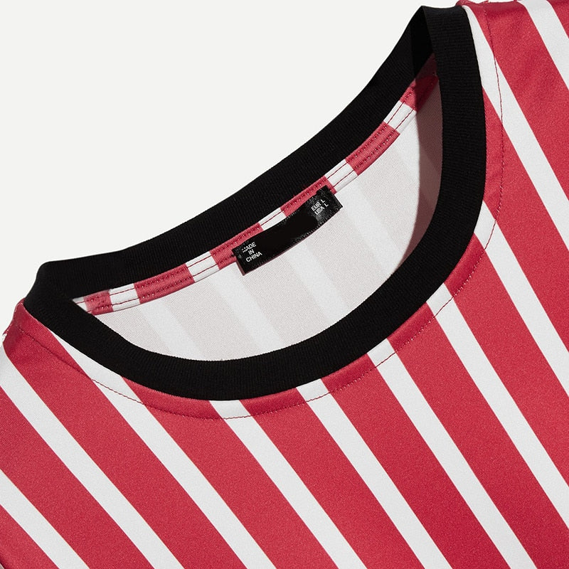 Summer Red striped Tee
