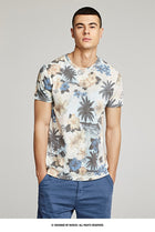 Summer 2019 New Men T Shirt Cotton Print Flower Color For Man Casual Short Sleeve Slim Fit T-shirt Male Wear Tops Tee Shirt 8641