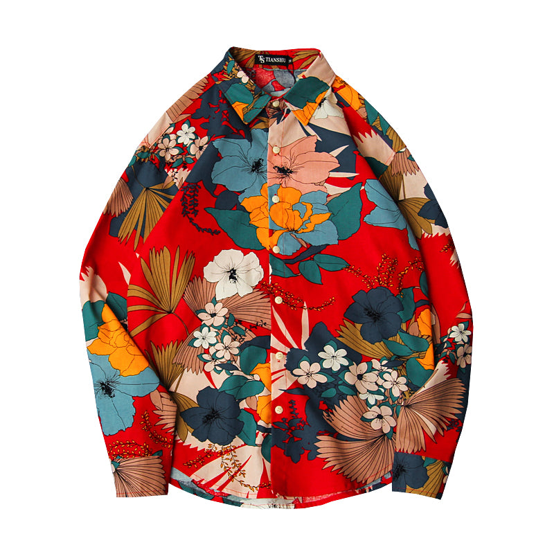 Flower Patchwork Print Shirt