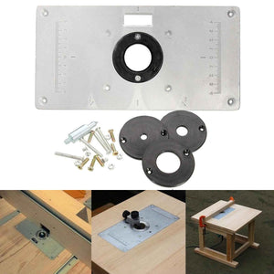 Aluminum metal router table insert plate insert rings diy for aluminum metal router table insert plate insert rings diy for woodworking sliver greentooth Images