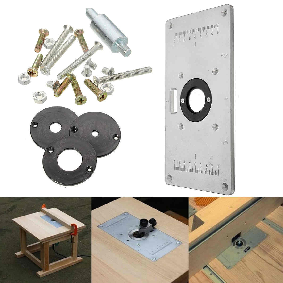 Aluminum metal router table insert plate insert rings diy for aluminum metal router table insert plate insert rings diy for woodworking sliver greentooth Gallery
