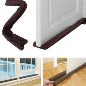 XIN Hot Sale Brown Twin Door Draft Stopper Dual Draught Excluder Air Insulator Windows Dodger Guard & XIN Hot Sale Brown Twin Door Draft Stopper Dual Draught Excluder Air ...
