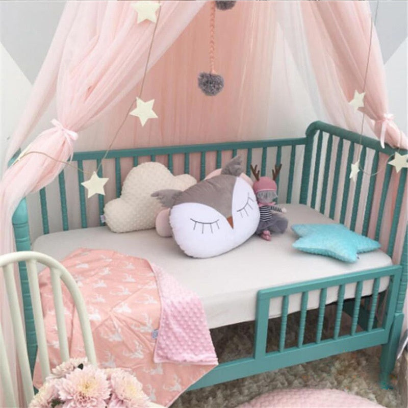 Kids Bedroom Girl Princess Elegant Lace Bedding Round Dome Bed ...