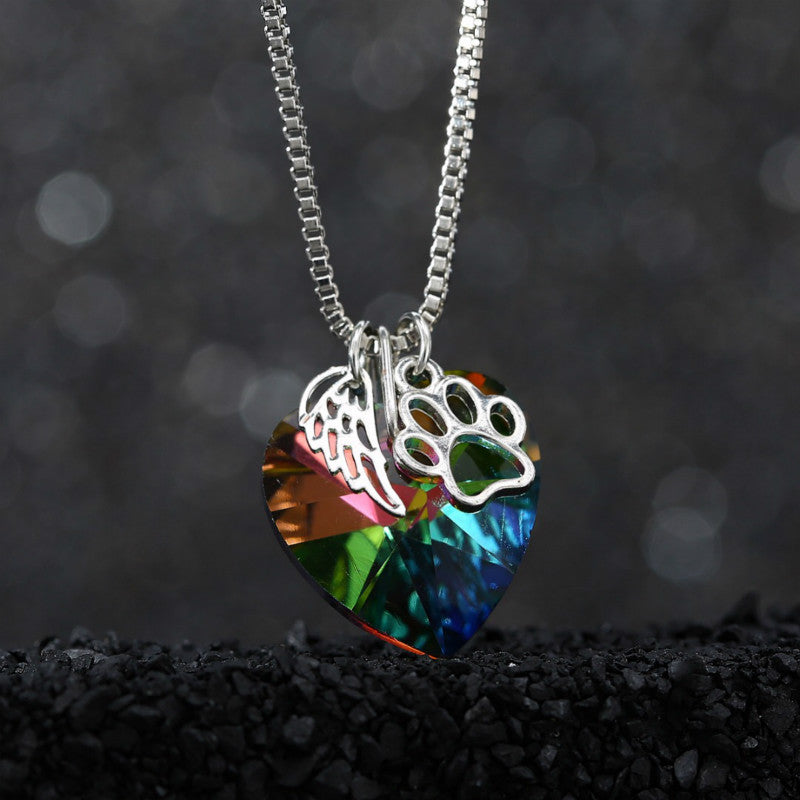 Rainbow bridge fallen angel crystal pendant necklace tylily rainbow bridge fallen angel crystal pendant necklace tylily mozeypictures Image collections
