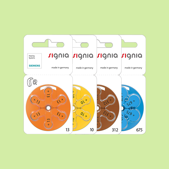 Hearing Aid Batteries - Signia Brand - All Sizes