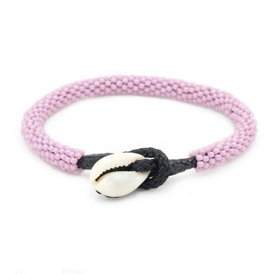 Chilliges Kaurimuschel Armband im Summerlook, mauve - Jira Schmuck