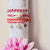Armband Kombination in rosa/orange im Hippie style - Jira Schmuck