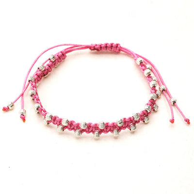 Hippie Armband Bollywoodl in rosa - hippie style - Schmuck Onlineshop