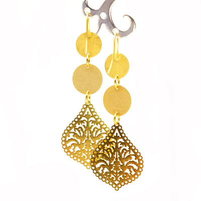 Ohrring, Drop India-Gold von JayJay Design - Jira Schmuck