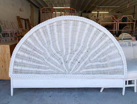Braided Wicker King Headboard