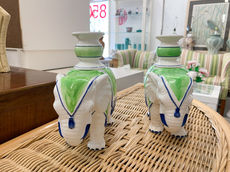 Fitz and Floyd Elephant Candle Holders